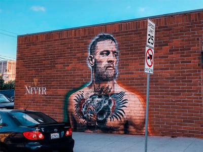 Conor McGregor Gets Insanely Realistic Mural Outside L.A. Irish Pub