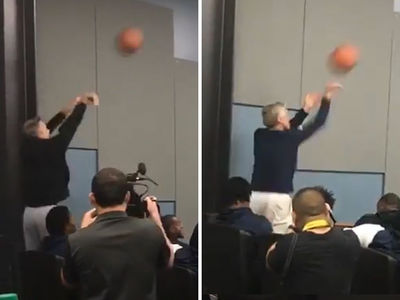 Steve Kerr & Pete Carroll Battle In Basketball Shootout, Who Wins?!