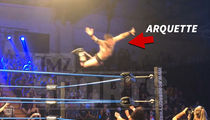 David Arquette Flies Off Top Rope at Canadian Wrestling Match