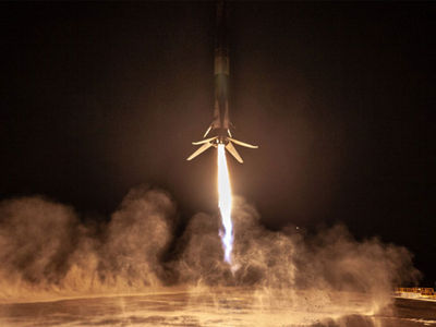 Elon Musk's SpaceX Launches Rocket And Sticks The Landing in Major Milestone