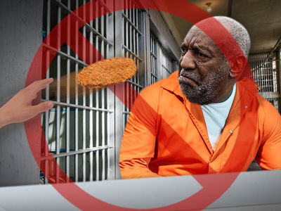 Bill Cosby Was Not Smacked in Face with Chicken Patty in Prison Food Fight