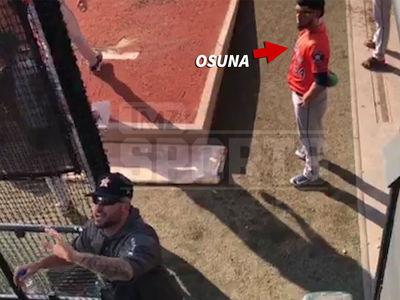 Astros' Ryan Pressly Confronts Roberto Osuna Heckler, 'You're Being a Dickhead'