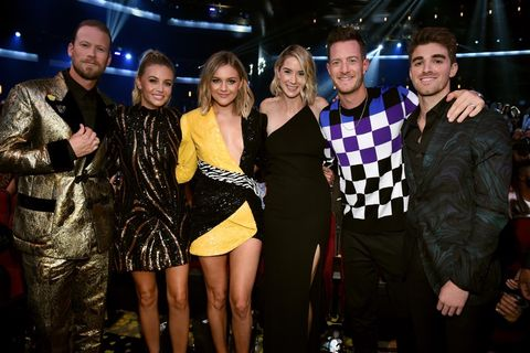 Brian Kelley, Brittney Marie Cole, Kelsea Ballerini, Hayley Stommel, Tyler Hubbard, and Andrew Taggart of The Chainsmokers