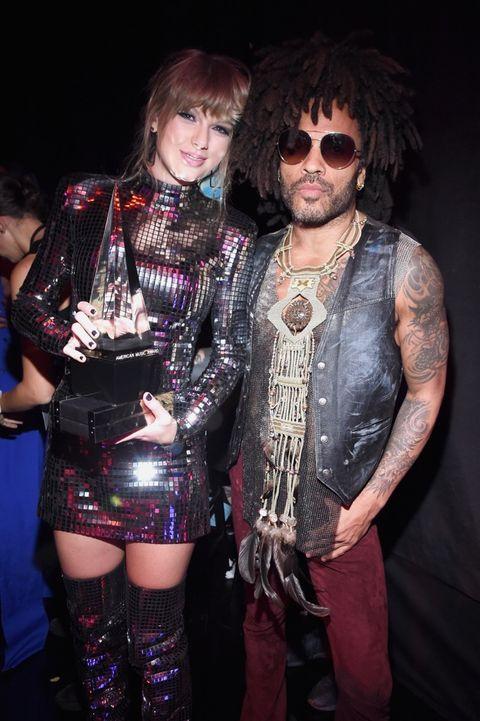 Taylor Swift and Lenny Kravitz
