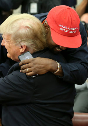Kanye West at White House for Lunch with President Trump