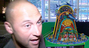 Derek Jeter Boots Sculpture Out Of Marlins Park 'Cause He Hates It