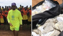 Kanye West Hands Out Dozens of Yeezys in Uganda, Kim Gushes Over Africa