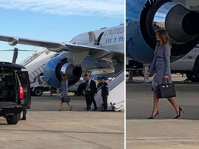 Melania Trump's Plane Suffers Mechanical Failure, Returns to Andrews Air Force Base
