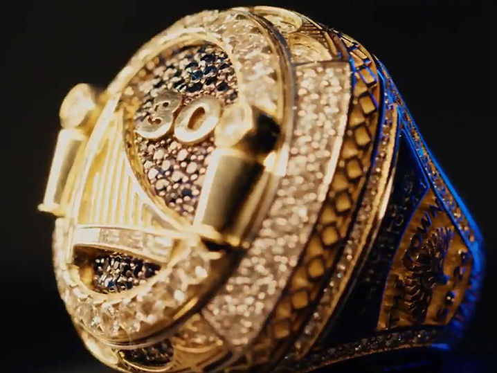 Golden State Warriors Shade Cavaliers ... With Reversible Championship Rings