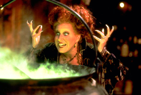 Bette Midler played the character of Winifred Sanderson