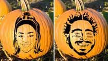 Celebrity Pumpkin Stencils -- Slice, Slice Baby!