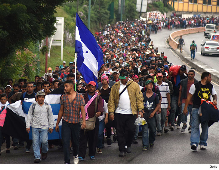 President Trump Threatens Military Force To Stop 1500 Honduran