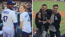 Stars Rooting For The Dodgers ... Check Out The Fans In The Stands!