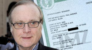 Paul Allen Death Certificate Lists Septic Shock and Lymphoma as Cause of Death