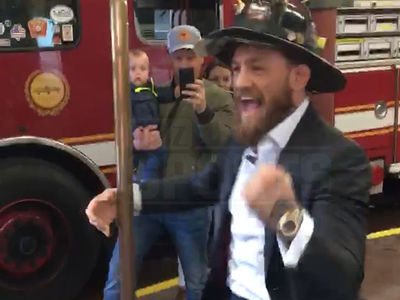 Conor McGregor Hooks Up Boston Firefighters With World Series Tickets and Whiskey!