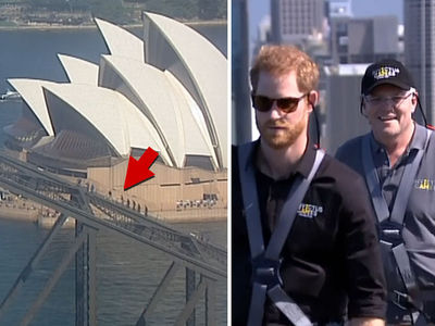 Prince Harry & Australian Prime Minister Scale Sydney Harbour Bridge