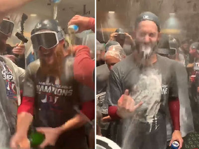 Red Sox Celebrate World Series Berth With Boston Booze Party