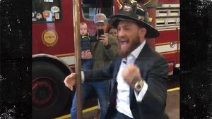 Conor McGregor Hooks Up Boston Firefighters With World Series Tickets!!