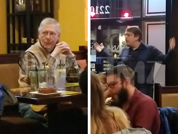 Senator Mitch McConnell Confronted at Restaurant ... By Angry Customers