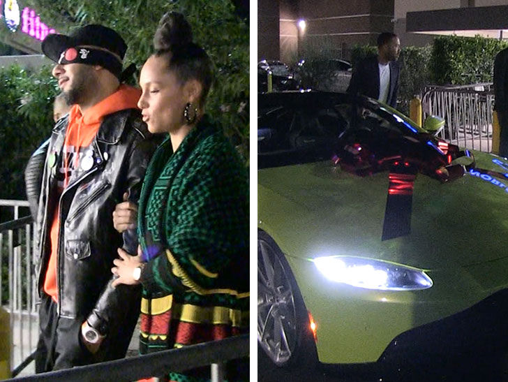 Alicia Keys Surprises Husband Swizz Beatz With Aston Martin For 40th
