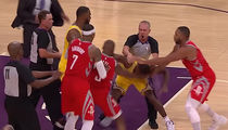 Rajon Rondo & Chris Paul Come to Blows in Lakers-Rockets Brawl