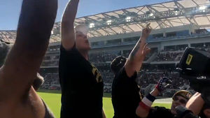 Will Ferrell Leads Thunderous Stadium Chant, Jump For LA Football Club!!