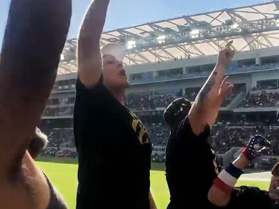 Will Ferrell Leads Thunderous Stadium Chant, Jump For LA Football Club!!