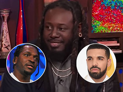 T-Pain Breaks Down Who Won in FEUD Between Drake and Pusha-T, Weighs in on Kanye's Trump love