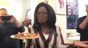 Oprah Surprises 'Project Runway' Star with Pizza Party to Celebrate Milestone