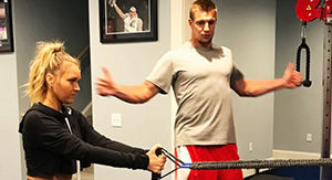 Watch Rob Gronkowski Train Camille Kostek Ahead of Her Rookie SI Swimsuit Shoot