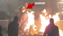 Matt Damon Lights Up on Fire on 'Ford v. Ferrari' Set