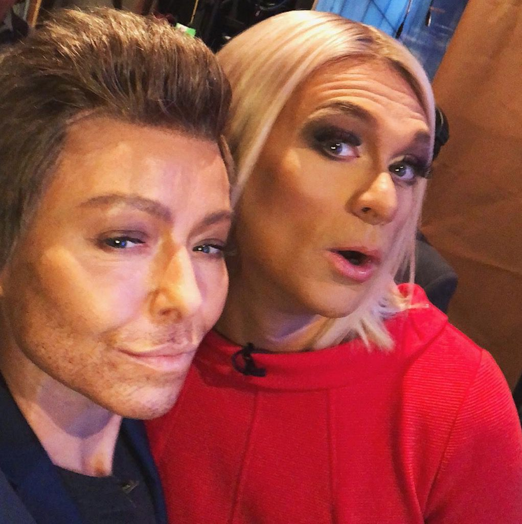 Ryan Seacrest and Kelly Ripa as each other