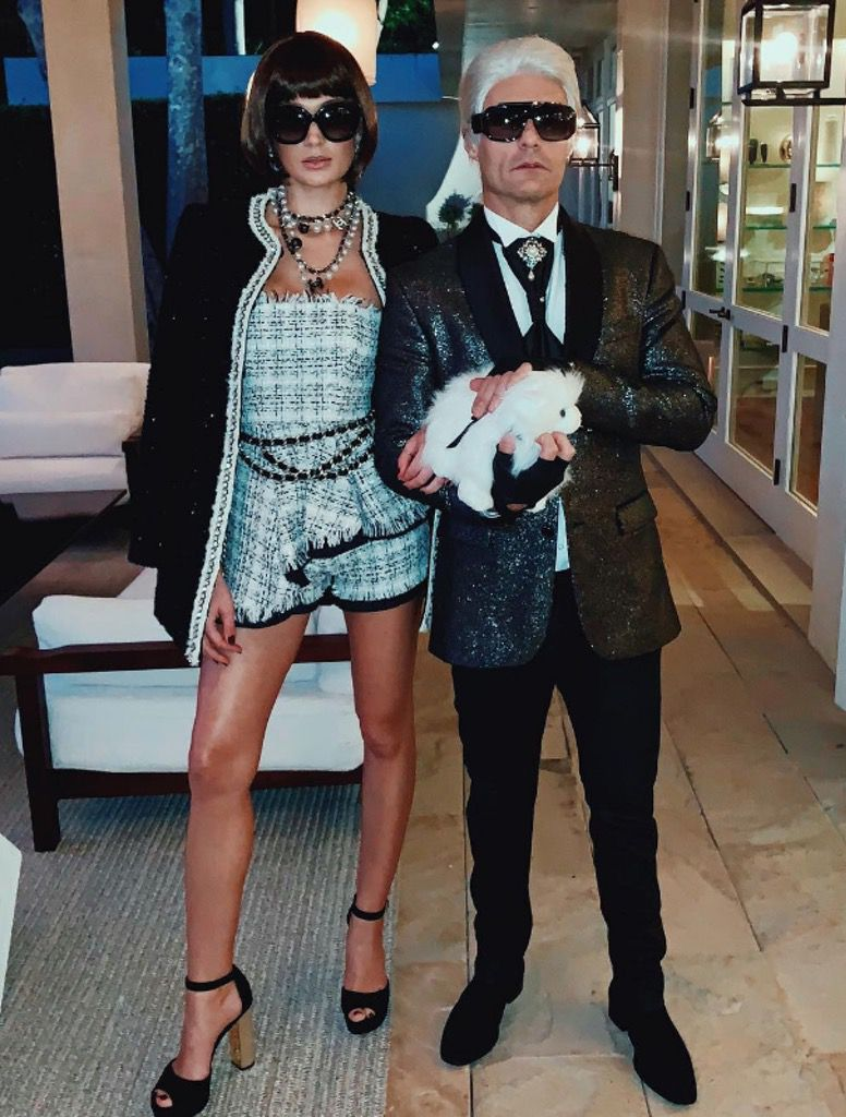 Ryan Seacrest and Shayna Taylor as Anna Wintour and Karl Lagerfeld