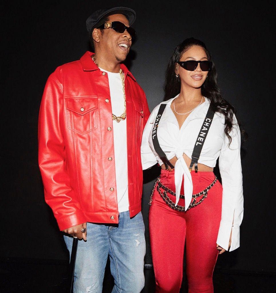 Beyoncé and Jay-Z as Lil Kim and Biggie