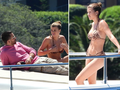Sofia Richie Rocks Leopard Print Bikini Down Under with Scott Disick