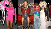 Celebs Do Halloween in Freaky, Macabre and Revealing Costumes