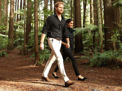 Meghan Markle & Prince Harry Take a Walk Through the Redwoods