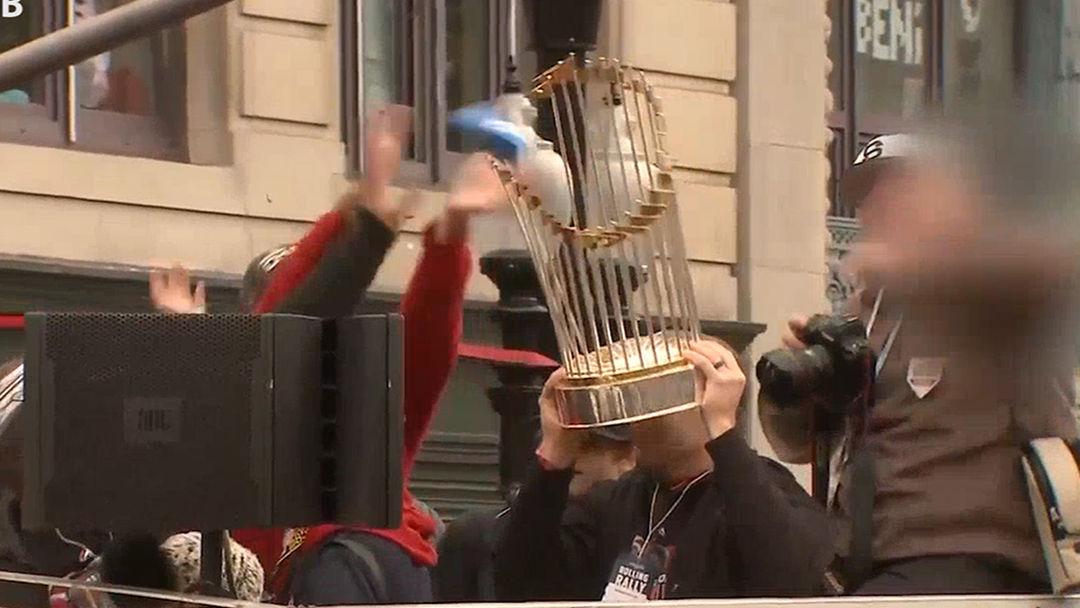952763dff Boston Red Sox World Series Trophy Damaged at Championship Parade. Video  thumbnail