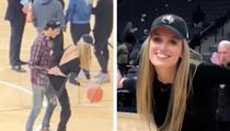 G-Eazy Gets Handsy with Hot Blonde Model at Lakers-Timberwolves Game