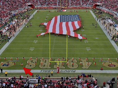 49ers Cheerleader Kneels During National Anthem