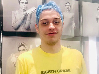 Pete Davidson's Not Blue Anymore Except for His Hair