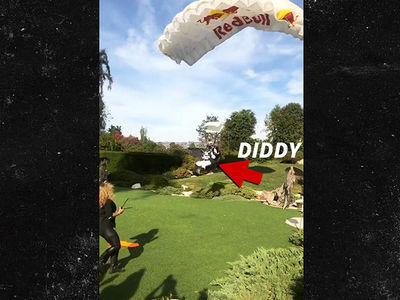 Diddy Skydives for 49th Birthday, Lands at Playboy Mansion
