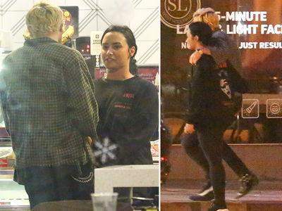 Demi Lovato Hanging Out Again, Getting Coffee With Sober Buddy Henry Levy