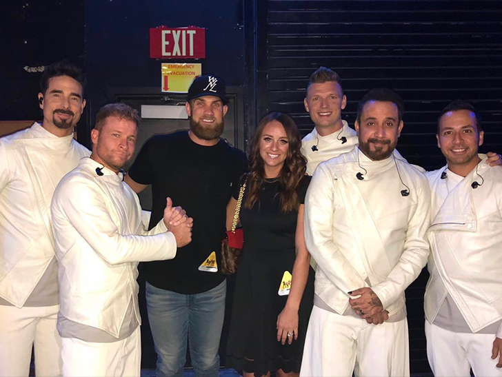 Bryce harper gives wife backstreet boys for her birthday tmz in vegas over the weekend and not only got her backstage for a meet and greet but had the guys take her on stage for a 5 on 1 serenade m4hsunfo