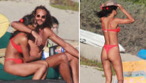 Joakim Noah's Victoria Secret Model GF Lais Ribeiro Rocks Thong Bikini In Malibu