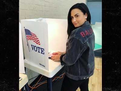 Demi Lovato Breaks Social Media Silence to Show She's Voting