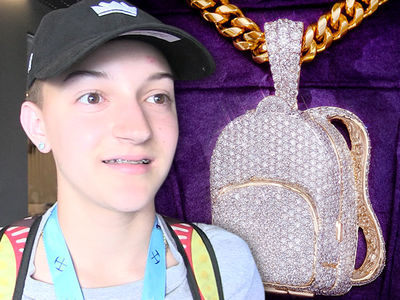 Backpack Kid Drops $25k for New Bling and It Perfectly Describes Him