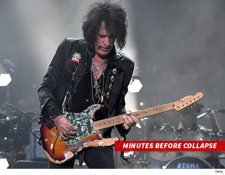 Joe Perry hospitalised after performing at Billy Joel show