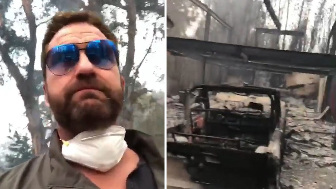 Gerard Butler Finds Malibu Home Burned Destroyed By