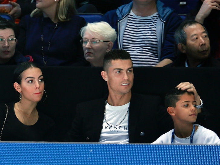 Cristiano Ronaldo Takes GF & Son To Tennis Match Amid Rape Allegations